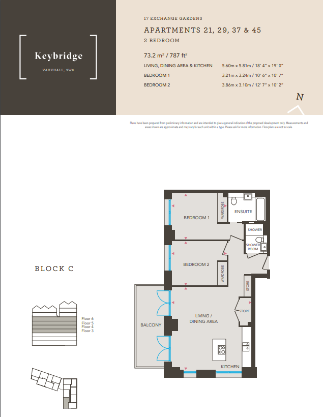 Exchange Gardens 2 bedrooms floorplan